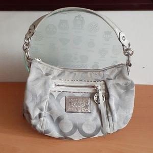 Coach Poppy Canvas / Leather Shoulder Bag